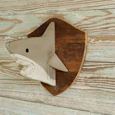 wooden shark head shark decor head kids baby nursery