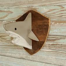 wooden shark head shark decor trophy head kids baby nursery