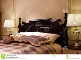 the double bed of carve patterns or designs on woodwork stock