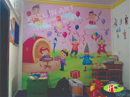 playschool wall murals nursery themed wall painting