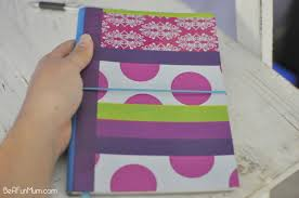 Notebook Cover Decoration Diy Cover A Book With Tape Be A Fun Mum