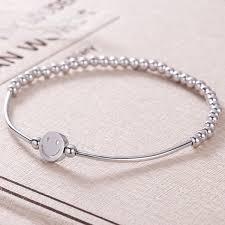 bracelet elastic silver images 925 sterling silver smile face elastic rope beads bracelets for jpg