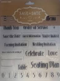 save the date stationery clear stamps