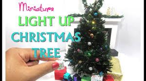 Miniature Halloween Ornaments by Diy Realistic Light Up Christmas Tree Moss Dollhouse Miniature