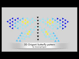 how to a 3d origami butterfly pattern