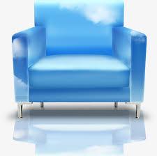 canapé bleu ciel le ciel est tissé de canapé bleu les nuages canapé image png pour