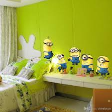 3d minions wall decal washable removable reusable children room despicable me 2 minion movie decal removable wall sticker 22inch 22inch home decor art kids