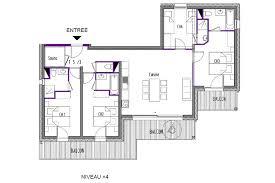 appartement 4 chambres plans des appartements à louer dans la résidence le carlina à la plagne
