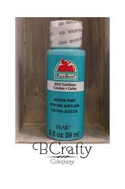 caribbean blue craft paint apple barrel 2 oz acrylic paint