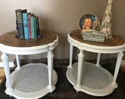 ethan allen end tables ethan allen table etsy