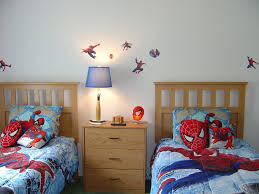 Bed Sets For Boys Bedroom Furniture Amazing Spiderman Wall Decal In Superhero