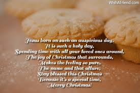 such a holy day christian christmas poem