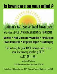 Sod Estimate by Cottom S A 1 Sod Total Lawn Care Home