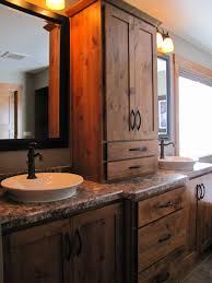 Rustic Bathroom Mirrors - bathroom wooden bathroom cabinet modern rustic bathroom rustic