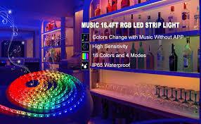 music led strip lights led strip lights led lights sync to music 16 4ft 5m led light strip