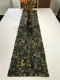 forest green table linens forest green table runner green table runner green pine needles