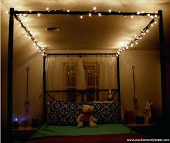 Diy Canopy Bed With Lights String Lighting For Bedrooms U2013 The Union Co