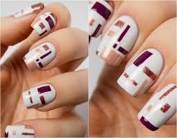 figuras geometricas uñas decoracion de uñas tendencias modernas para el 2016