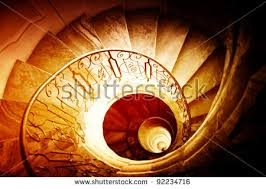 orange spiral staircase stock images royalty free images