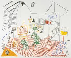 Studio Interior by Pembroke Studio Interior U0027 David Hockney 1984 Tate