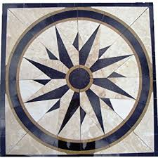 marble mosaic floor tile medallion sun design 30 amazon com
