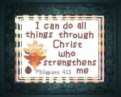 bible verse gifts strengthens philippians 4 13 cross stitch kit joyful