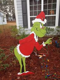 grinch yard decoration outdoor christmas decorations grinch on sale grinch stealing the