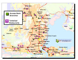 lagos city map stl press