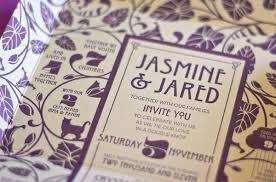 self mailing art nouveau wedding invitations invitation crush