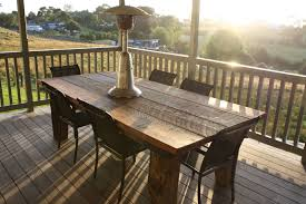 Patio Furniture Table Admirable Patio With Rustic Outdoor Furniture Of Rectangle Wooden
