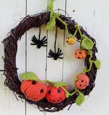 crochet halloween wreath wreath with crochet pumpkins gift on halloween gift on