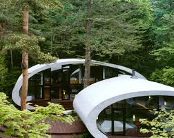 Eco Friendly Architecture Concept Ideas Futuristic Japanese Shell House Design With Eco Friendly Concept