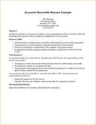 Resume Samples Customer Service by Accounts Receivable Resume Sample Template Design