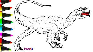how to draw dilophosaurus dinosaur in jurassic world and