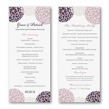easy wedding program template easy wedding program template wedding printable