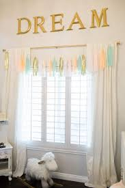 Ruffled Curtains Nursery by Nursery Curtains With Bows Perky Vintage Linen Baby Bedding