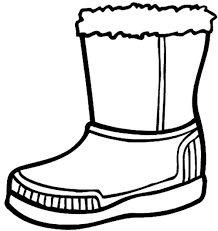 winter boots large coloring dressing winter