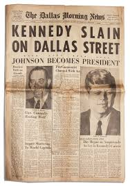 The Lot Dallas by Lot Detail Dallas Newspaper Announcing The Assassination Of Jfk