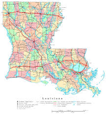 Map Of United States With Interstate Highways by Large Detailed Administrative Map Of Louisiana State With Highways