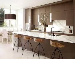 kitchen island with bar stools unique kitchen island stools with brown backsplash 9054