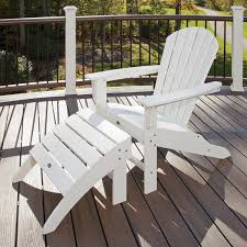 Trex Rocking Chairs Trex Trex Outdoor Cape Cod Adirondack Chair And Footstool Set