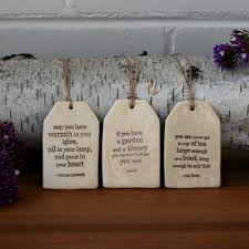 Garden Igloo Ceramic Quote Tags