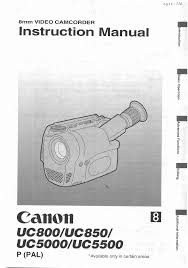 canon camcorder uc 5500 user guide manualsonline com