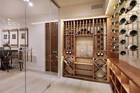 wine room glass doors home in corona del mar california