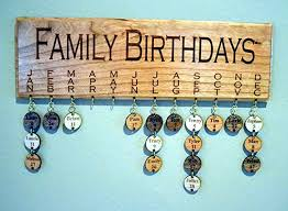 family birthday board wall hanging wood plaque handmade