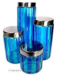 colored glass kitchen canisters kitchen canisters