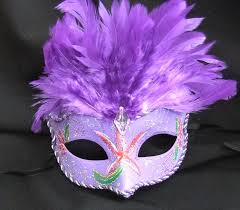 purple feather burlesque inspired masks burlesque masks fascinators
