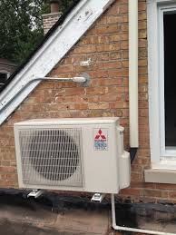 mitsubishi mini split floor unit mitsubishi condenser mounted on roof with brackets mitsubishi