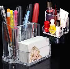 clear acrylic desk organizer desk organizer pen holder cosmetic organizer