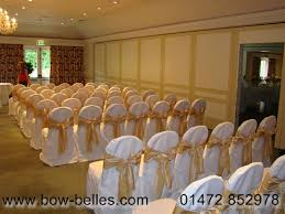 gold chair sashes wedding chair cover hire